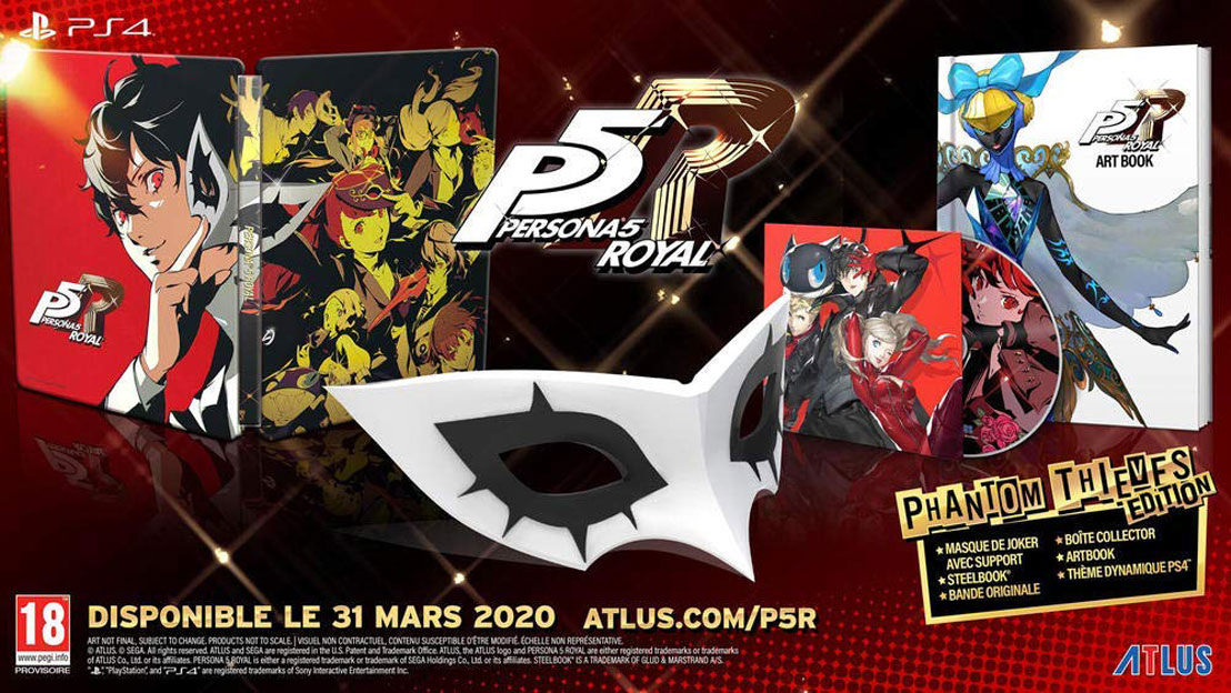 persona 5 royal jeu video PS4 edition collector phantom