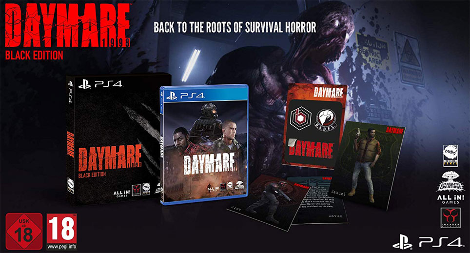 Daymare 1998 black edition PS4 collector
