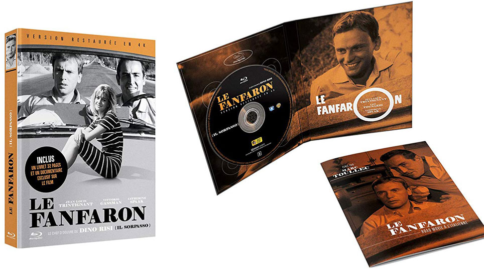 Le fanfaron blu ray edition collector DVD 4K