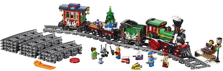 lego train de noel Train de noël Lego Creator 10254 collector serie lego train de noel