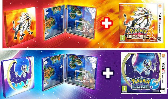 édition Collector Pokemon Lune Soleil Steelbook Nintendo 3ds