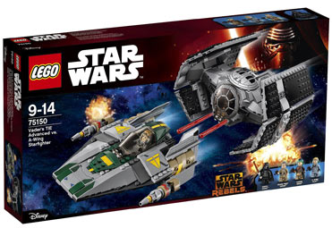 Lego-Star-Wars-rebels-75150-Tie-Advanced-Dark-Vador-a-wing-Starfighter