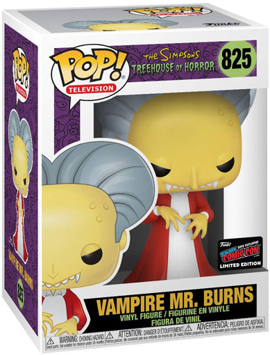 Burns Vampire figurine funko pop simpson collection edition limitee comic con