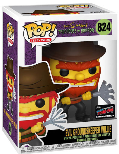 Evil Groundskeeper willie figurine funko pop limited edition comic con 2019