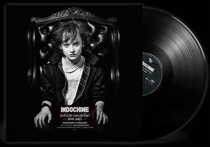 indochine coffret singles collection 5LP vinyle 2020 achat precommande