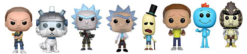 Funko-pop-Rick-Morty-figurine-collection