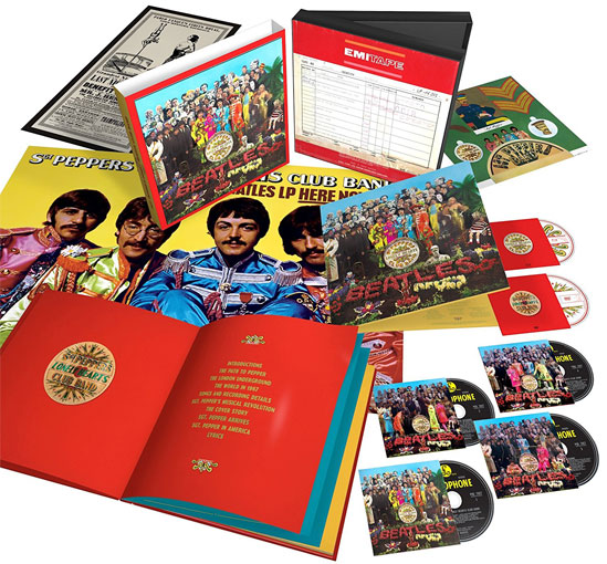 Beatles-Sergent-Peppers-edition-50th-anniversary-Coffret-collector-CD-Vinyle-Bluray-DVD