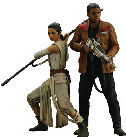 Figurine-collector-star-wars-Rey-et-Finn-Kotobukiya