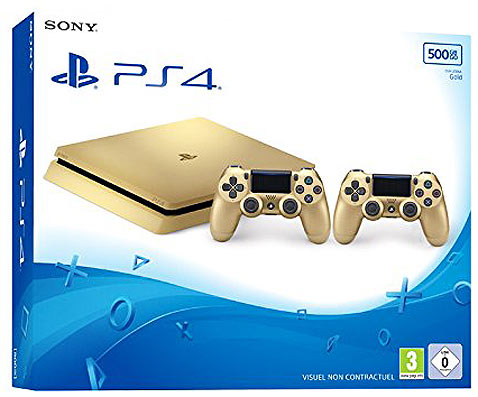 Console-PS4-Playstation-4-edition-collector-Gold-2017