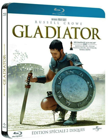 gladiator steelbook dition collector blu ray 4k dvd. Black Bedroom Furniture Sets. Home Design Ideas