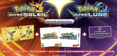 Pokemon Ultra-Soleil  Lune Steelbook Collector