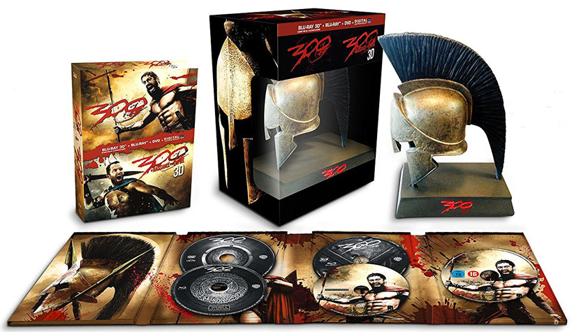 Coffret-collector-300-Bluray-DVD-casque-spartiate-edition-limitee