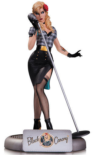 DC-Comics-Bombshells-Black-Canary-Statue-DC-COllectible-figurine-collector