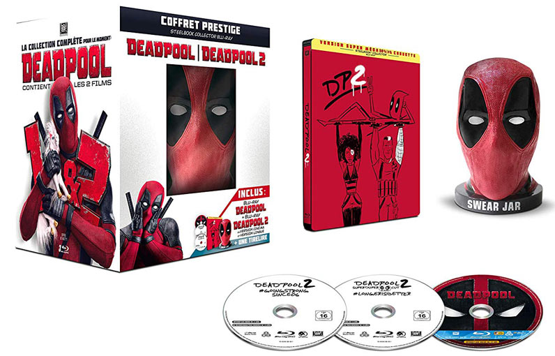 Coffret-collector-deadpool-2-figurine-masque-tirelire-collector-Blu-ray-Steelbook