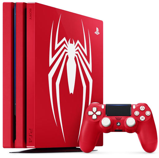 console-playstation-4-spider-man-edition-limitee-rouge