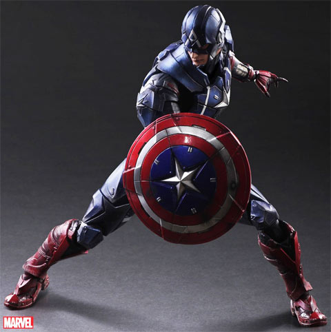 Captain-America-figurine-Play-arts-Kai-collector