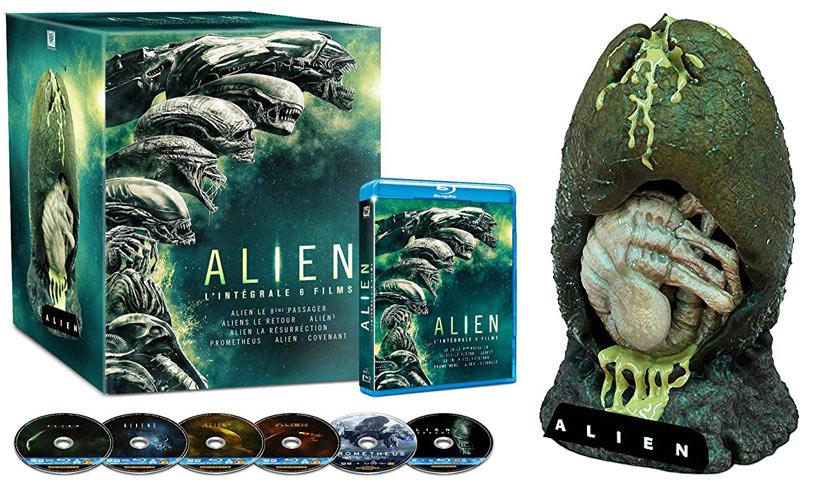 Coffret collector intégrale Alien édition limitée figurine Oeuf eggs