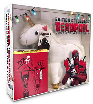 coffret-collector-peluche-licorne-deadpool-1-et-2-steelbook