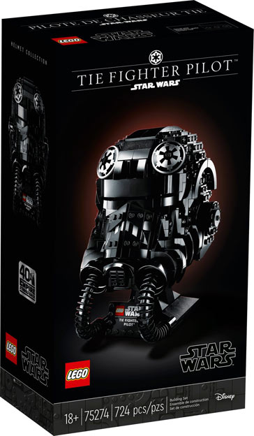 LEGO star wars casque helmet TIE FIGHTER PILOT
