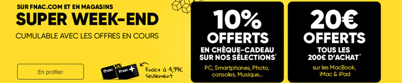 super week end fnac pormo