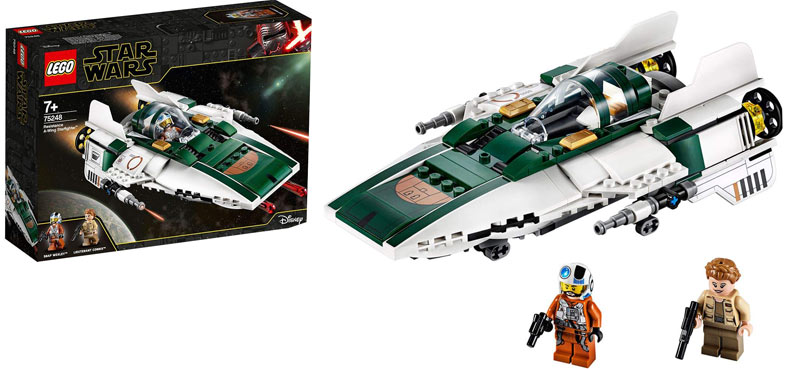 Lego 75248 A Wing star fighter star wars episode ix 9 Ascension skywalker