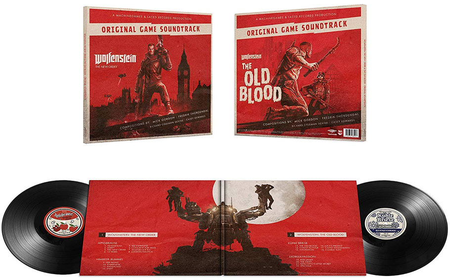 Wolfenstein double vinyle new order old blood edition ost soundtrack