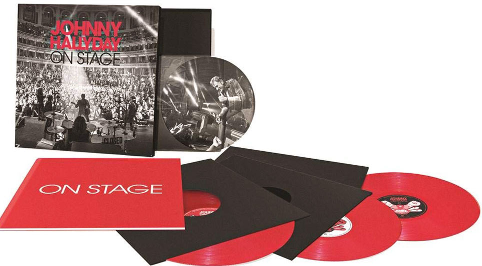 johnny hallyday on stage coffret collector edition limitee vinyle lp