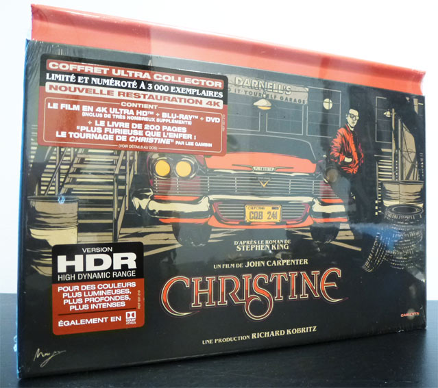 Christine edition collector limitee Blu ray 4K Ultra HD dvd carlotta
