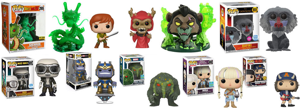 limited editino funko pop collection 2019