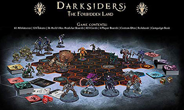 jeu plateau darksiders societe miniature figurines