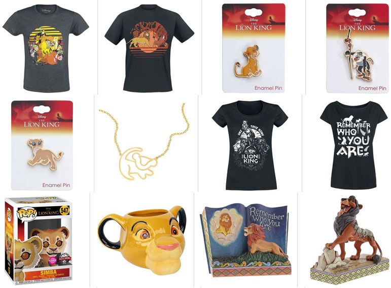 produit derives roi lion lion king collection