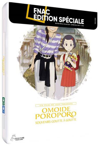 Omoide Poroporo steelbook edition collector blu ray dvd boitier metal studio ghibli