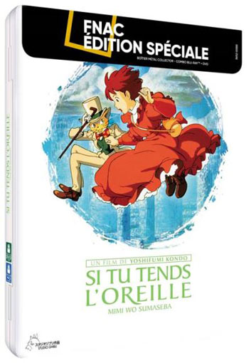 Si tu tends l oreille steelbook collector Blu ray DVD studio ghibli