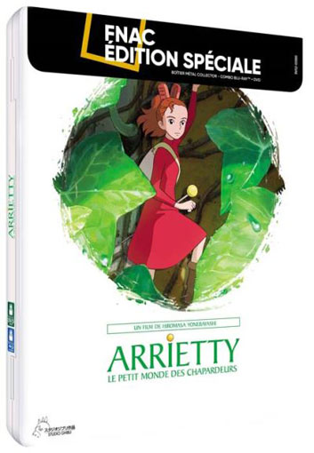 arriety steelbook collector Blu ray DVD studio ghibli dessin anime