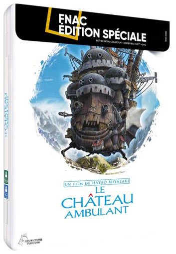 le chateau ambulant steelbook collector Blu ray DVD edition limitee ghibli