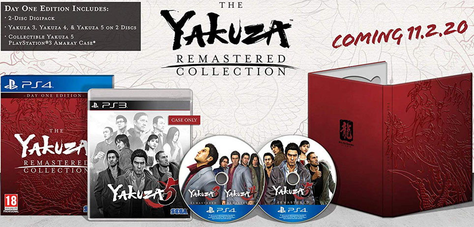 yakuza remastered collection ediiton collector day one steelbook digipack