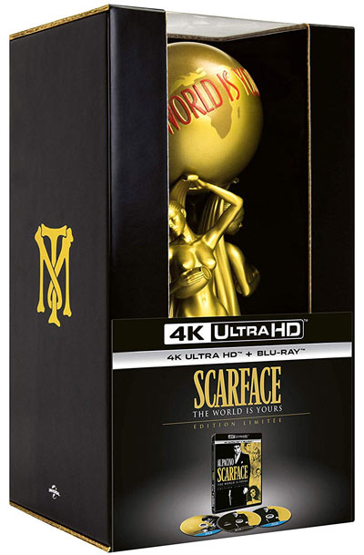 coffret collector Scarface figurine statue Blu ray 4K Ultra HD UHD