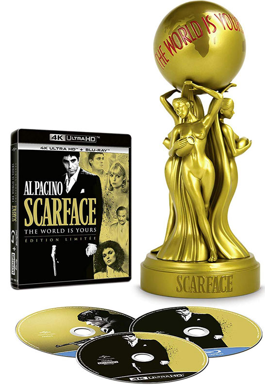 edition limitee scarface Blu ray 4K Ultra HD the world is yours