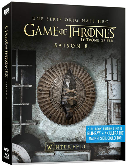 steelobok saison 8 Game of thrones collector Blu ray