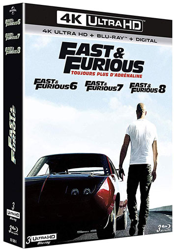 Fast furious coffret Blu ray 4K Ultra HD