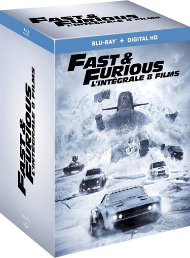 Fast furious integrale coffret Blu ray DVD