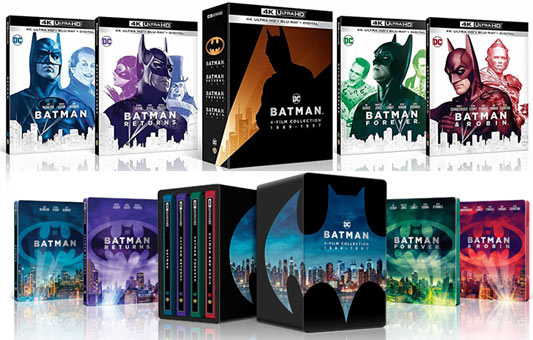 batman box complette film burton 4k
