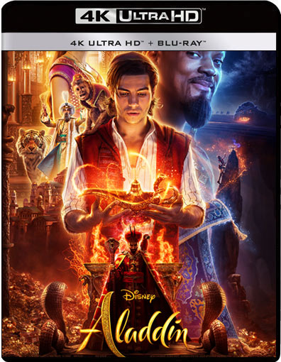 film aladdin 2019 Blu ray 4K Ultra HD will smith DVD