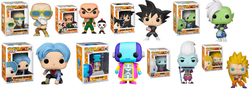 funko pop collection dbz