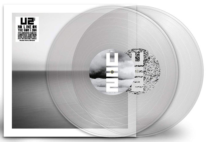 U2-vinyle-collector-edition-limitee-no-line-on-the-horizon-LP-clear-transparent