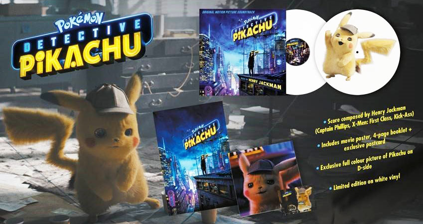 Detective Pikachu Vinyl LP edition limitee colored