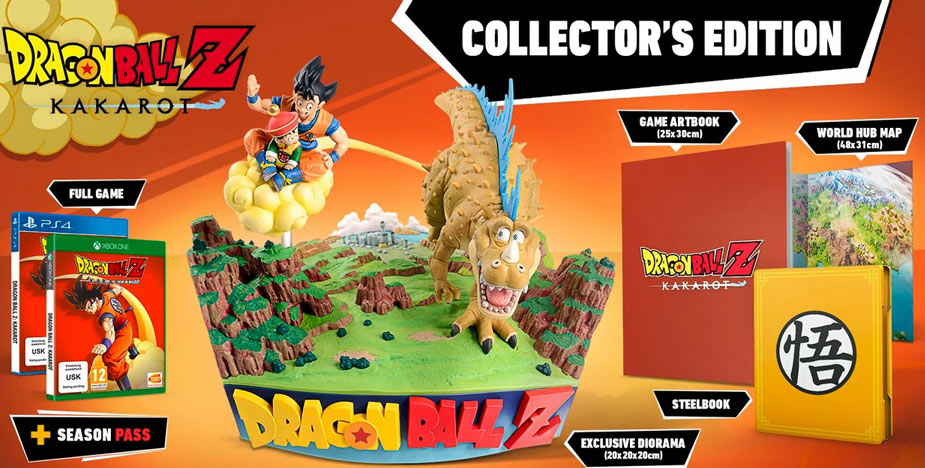 kakarot dragon ball z edition collector DBZ PS4 xbox