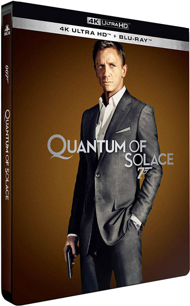 Quantum of solace blu ray 4k ultra HD edition collector limitee 2020