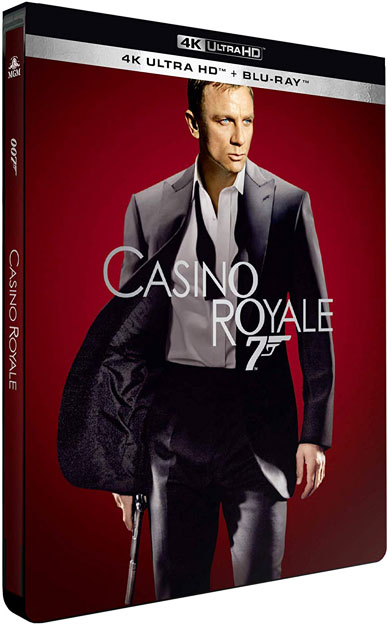 Steelbook 4k Casino Royale james bond blu ray 2020