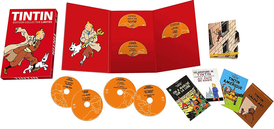 Tintin coffret integrale episode DVD film dessin anime 2020